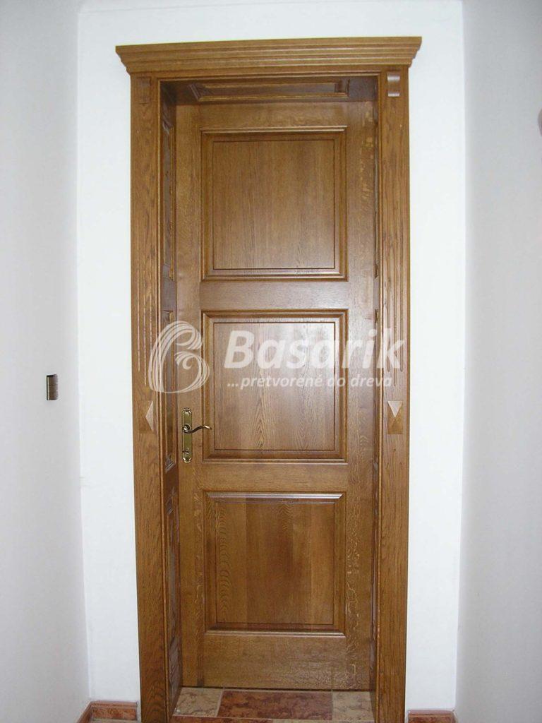 Dvere dubové, rustikálne