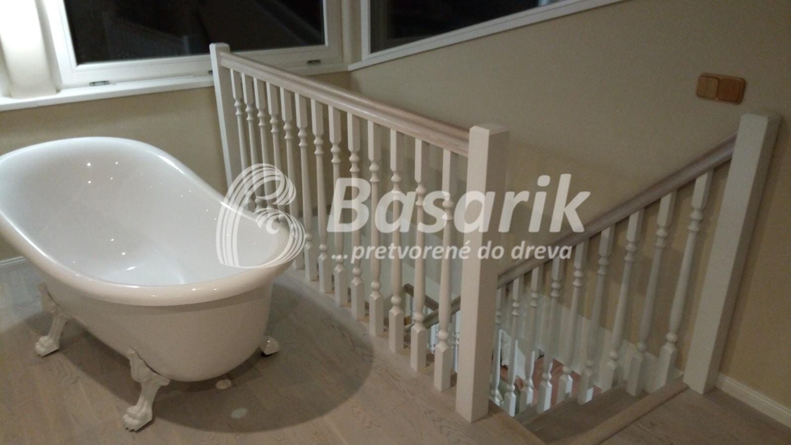 drevené samonosné schody /provensálsky štýl